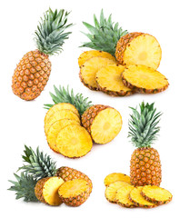 set of 6 pineapple images