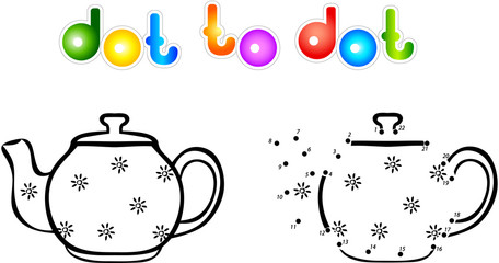 Teapot first dot to dot coloring book