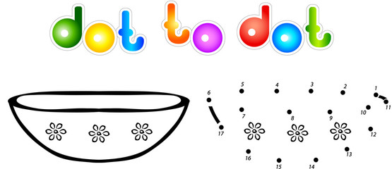 Plate first dot to dot coloring book