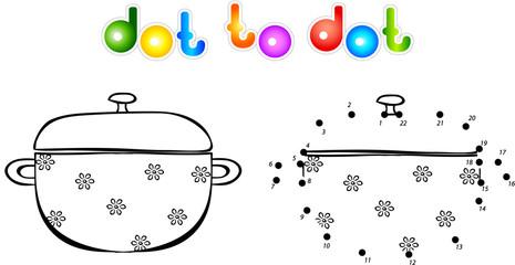 Pan first dot to dot coloring book