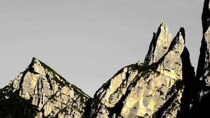 three peaks evening timelapse