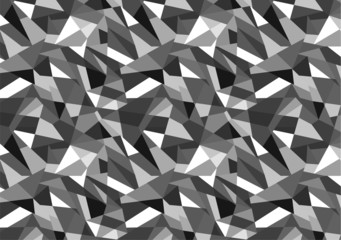 Abstract geometric black and white pattern background.