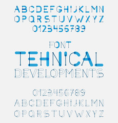 Vector alphabet letters design.