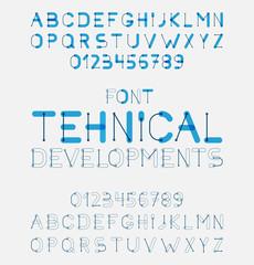 Vector alphabet letters design.