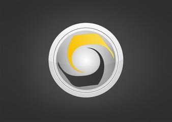 Abstract circle element digital icon modren symbol vector.zip