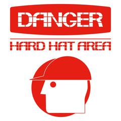 Опасность.Защитная каска.