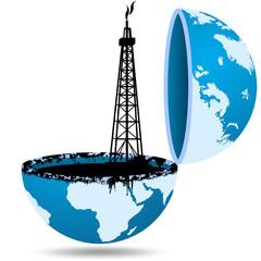 Ilustração - A busca pelo petróleo
