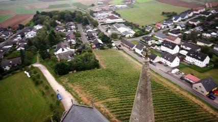 Kirchturmspitze , Luftaufnahme