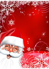 Happy New Year, cute Santa. Christmas background