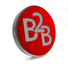 B2B circular icon on white background