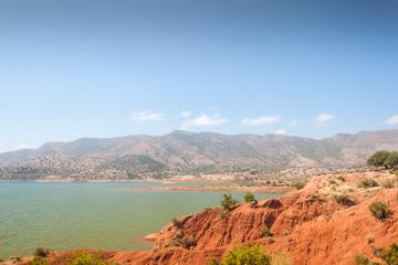 Lake among the mountains, Morocco