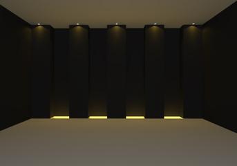 Empty room black