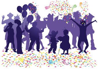 carnival party confetti