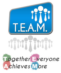 Team - Together Everyone Achieves More Square