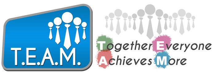 Team - Together Everyone Achieves More Blue 1011