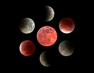 Moon eclipse mosaic.