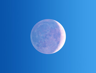 Moon eclipse on a gradient background.