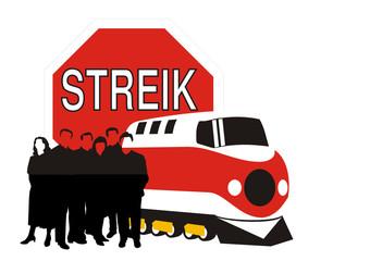 Streik - Gewerkschaft - Lokführer