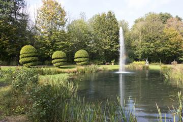 english garden in autumn
