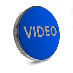 video circular icon on white background