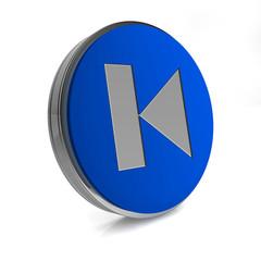 prev circular icon on white background