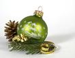Green christmas ball - 71729439
