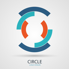 Vector circle company logo design, business symbol concept