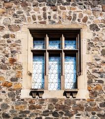 Detail of a window at Krivoklat castle
