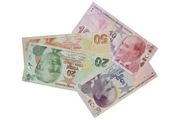 turkish lira banknotes composition