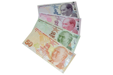 turkish lira banknotes currency