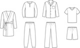 Vector illustration of men's sleepwear