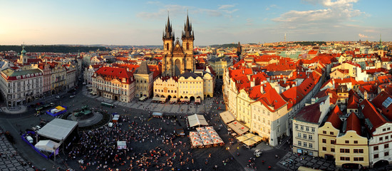 Prague square - Panorama of Old Town