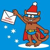 Tomcat, merry Christmas poster
