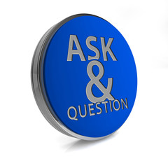 Q&A  circular icon on white background