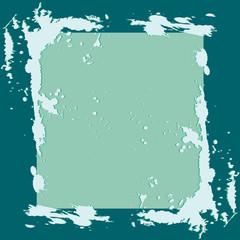 frame with blue splash