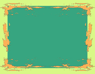 frame with splash