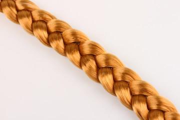 Blond hair braid