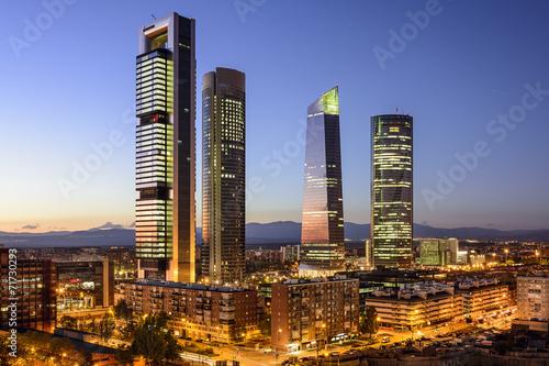 Fotobehang Madrid Madrid, Spain Financial District