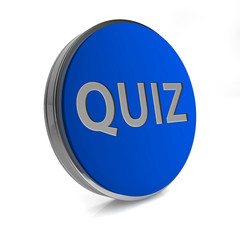 Quiz circular icon on white background
