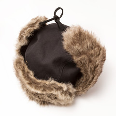 Eskimo hat isolated on white