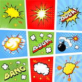 Comic speech bubbles and comic strip background vector - 71731286