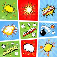 Des bulles de bandes dessinées et bande dessinée vecteur de fond