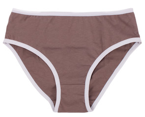 Women's panties isolated on white background.
