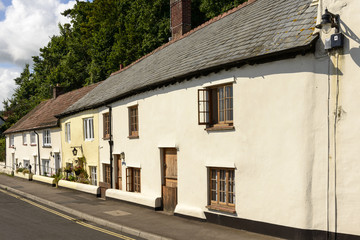 row of stone cottages at Minehead, Somerset