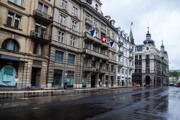 View of a street in Zurich