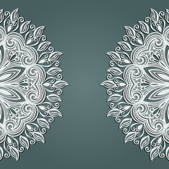 Vector Colored Ornate Backgrounds. Hand Drawn Texture with Ornam