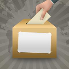 Votazione con spazio vuoto
