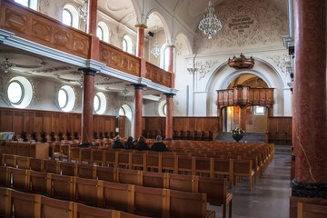 Interior of St. Peter's Church in Zurich