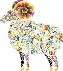 Cheerful ram (bright)