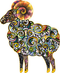 Cheerful ram